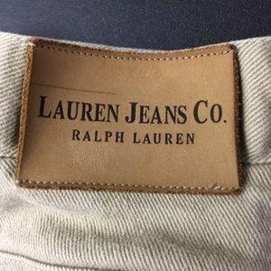 Ralph Lauren Jeans Womens Size 12 Cotton Tan